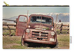 Carry-all Pouch featuring the photograph Rusty Old Dodge by Ely Arsha