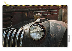 Carry-all Pouch featuring the photograph Rusty Old Headlight  by Kim Hojnacki