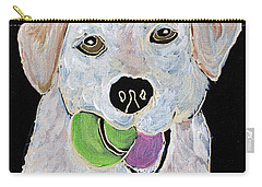 Carry-all Pouch featuring the painting Rusty On Canvas by Janice Rae Pariza