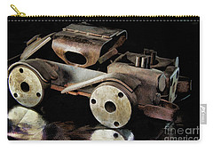 Carry-all Pouch featuring the photograph Rusty Rat Rod Toy by Wilma Birdwell