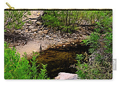 Carry-all Pouch featuring the photograph Sabino Canyon Op44 by Mark Myhaver