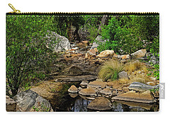 Carry-all Pouch featuring the photograph Sabino Canyon V49 by Mark Myhaver