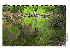 Carry-all Pouch featuring the photograph Sabino Reflection Op53 by Mark Myhaver