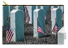 Carry-all Pouch featuring the photograph Sacramento Valley Veterans Cemetary by Bill Gallagher