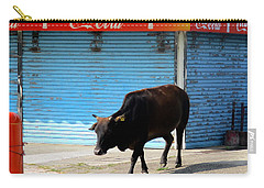 Carry-all Pouch featuring the photograph Sacred Cow 1 by Randall Weidner
