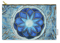 Carry-all Pouch featuring the mixed media Sacred Geometry by Angela Stout