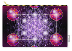 Carry-all Pouch featuring the digital art Sacred Geometry Metatron by Alexa Szlavics