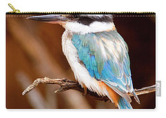 Sacred Kingfisher Carry-all Pouch by Mike  Dawson