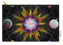 Sacred Planetary Geometry - Dark Red Atom Carry-all Pouch