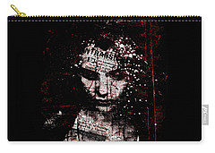 Carry-all Pouch featuring the digital art Sad News by Marian Voicu