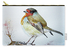 Sad Robin Carry-all Pouch by Jasna Dragun