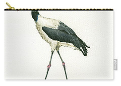 Saddle Billed Stork Carry-all Pouch