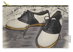 Carry-all Pouch featuring the painting Saddle Shoes by Kelly Mills