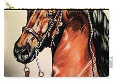 Saddlebreds Carry-all Pouch by Cheryl Poland