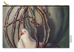 Carry-all Pouch featuring the painting The Dove by Randol Burns