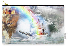 Carry-all Pouch featuring the digital art Safe Harbor  by Dolores Develde