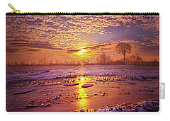 Carry-all Pouch featuring the photograph Safely Secluded In A Far Away Land by Phil Koch