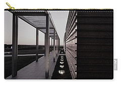 Carry-all Pouch featuring the photograph Sag Harbor Sunset 1 In Black And White by Rob Hans