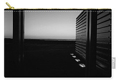Carry-all Pouch featuring the photograph Sag Harbor Sunset 2 In Black And White by Rob Hans