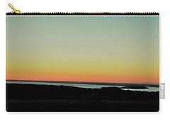 Carry-all Pouch featuring the photograph Sag Harbor Sunset 3 In Black And White by Rob Hans