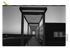 Carry-all Pouch featuring the photograph Sag Harbor Sunset In Black And White by Rob Hans