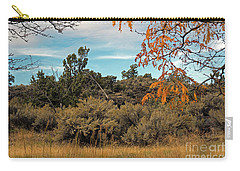Sagebrush And Lava Carry-all Pouch by Cindy Murphy - NightVisions