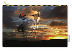 Carry-all Pouch featuring the digital art Sages Of The Universe by Shadowlea Is