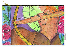 Carry-all Pouch featuring the painting Sagittarius by Cathie Richardson