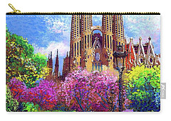 Sagrada Familia And Park,barcelona Carry-all Pouch by Jane Small