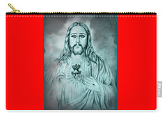 Sagrado Corazon De Jesus Carry-all Pouch by Edgar Torres