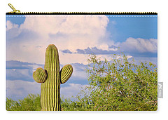Saguaro And Mesquite In Monsoon Season Carry-all Pouch