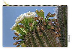 Carry-all Pouch featuring the photograph Saguaro Blooms by Gaelyn Olmsted