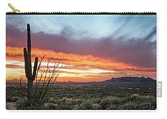 Saguaro Sunset At Lost Dutchman 2 Carry-all Pouch
