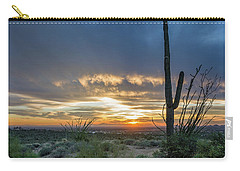 Saguaro Sunset At Lost Dutchman Carry-all Pouch