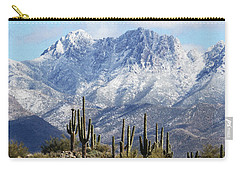 Saguaros At Four Peaks With Snow Carry-all Pouch
