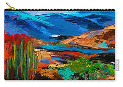 Saguaros Land Carry-all Pouch by Elise Palmigiani