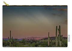 Saguaros Salute Rays Rising Carry-all Pouch