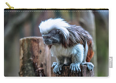 Carry-all Pouch featuring the photograph Saguinus Oedipus  by Traven Milovich