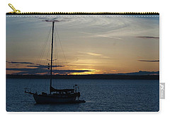 Sail Boat At Sunset Carry-all Pouch
