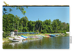 Carry-all Pouch featuring the photograph Sail Boats At Rest by Donald C Morgan