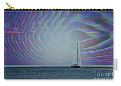 Sailboat And Bubbles Carry-all Pouch by Todd Breitling