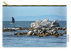 Carry-all Pouch featuring the photograph Sailboat At Bird Rock by Susan Wiedmann