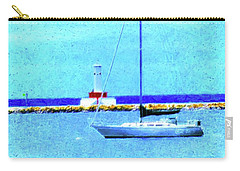 Carry-all Pouch featuring the painting Sailboat At Rest by Desiree Paquette