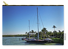 Carry-all Pouch featuring the photograph Sailboat At Royal Harbor by Lars Lentz