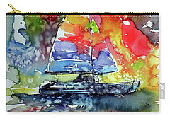 Sailboat At Sunset II Carry-all Pouch by Kovacs Anna Brigitta