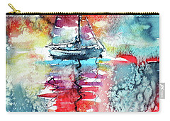 Sailboat At The Sinshine Carry-all Pouch by Kovacs Anna Brigitta