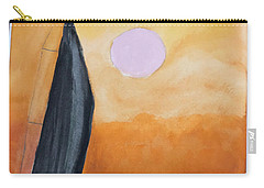 Carry-all Pouch featuring the painting Sailboat by Donald Paczynski