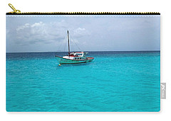 Sailboat Drifting In The Caribbean Azure Sea Carry-all Pouch