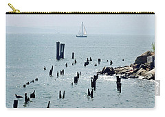Sailboat Off City Island, New York No. 1 Carry-all Pouch by Sandy Taylor