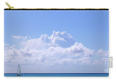 Carry-all Pouch featuring the photograph Sailboat Sea And Sky M5 by Francesca Mackenney